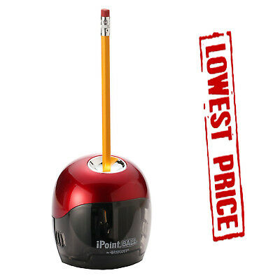 Electric Pencil Sharpener iPoint Ball Battery Automatic Touch Office Home School