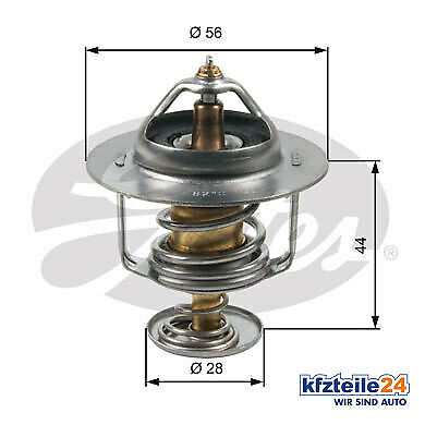 Gates | Thermostat, Kühlmittel (TH30282G1) u.a. für Hyundai, KIA Thermostat
