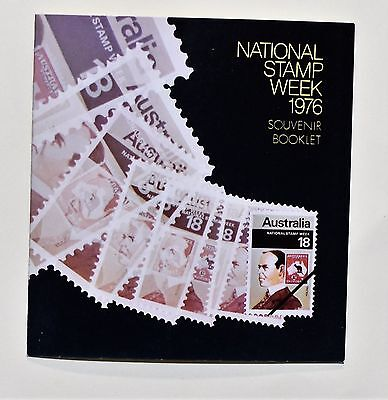 1976 National Stamp Week Booklet with numbered minisheet - stamps CTO