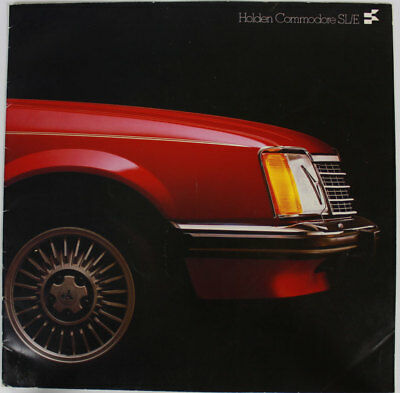 Used Holden Commodore VB SL/E Sales Brochure Accessories  Large 29 x 29 cm