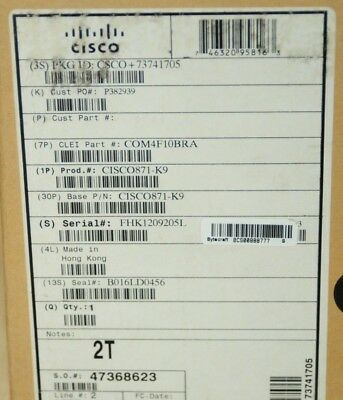 *Brand New* CISCO871-K9 4-Port WAN LAN Integrated Services Router 1 YEAR Wty