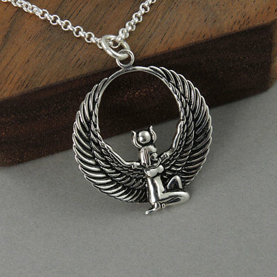Isis Necklace - sterling silver Egyptian jewelry, goddesses, amulet necklace