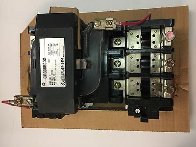 New GE Size NEMA 3 Motor Starter Cat CR306E002 50 HP 480/575V 120 V Coil