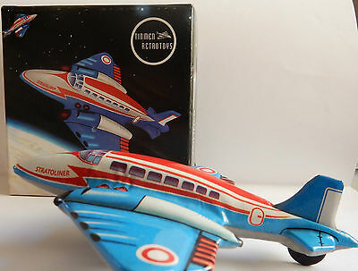 Stratoliner Plane Tin Friction Model Aircraft New Welby Replica Of Yesteryear