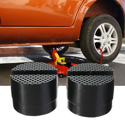 5cm 2Pcs Universal Slotted Frame Rail Floor Jack Guard Adapter Lift Rubber Pads
