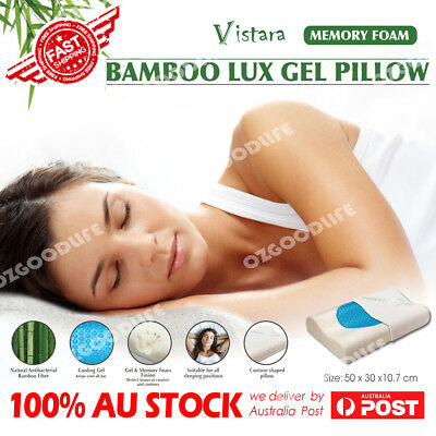 Cooling Gel Memory Foam Pillow with Removable Bamboo Fabric cover  High Density
