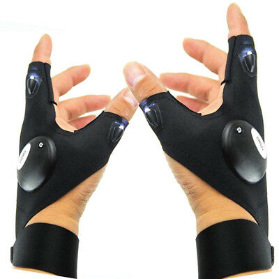 Auto LED Light Finger Lighting Flashing Gloves Outdoor Electrician Repair Work X