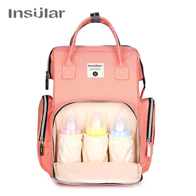 Insular Waterproof Baby Stroller Bag Nappy Changing Bag Baby Diaper Backpack