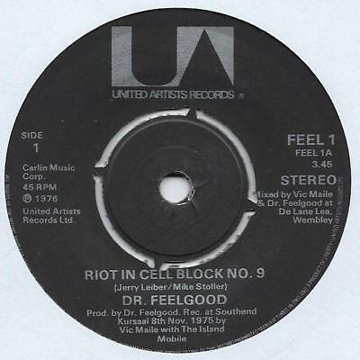 """Dr. Feelgood - Riot In Cell Block 9 - 7"""" Single"""