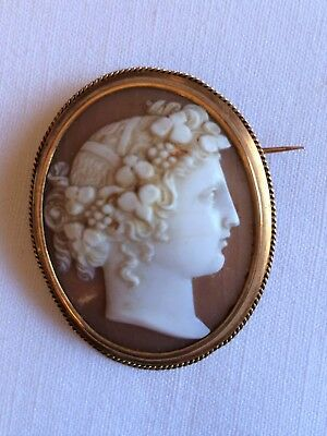 Ancienne Broche Camee Or 18 Carats