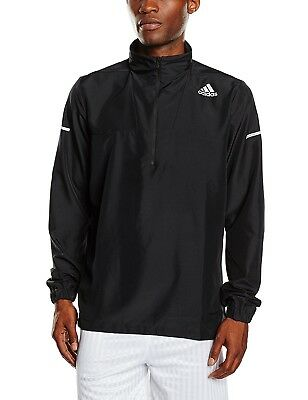 (Small, Black - black) - Adidas Men's Running Jacket. Free Delivery