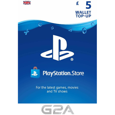 Playstation Network £ 5 Card - PSN 5 GBP UK Store Key / PS4 PS3 PSP - 5 Pounds