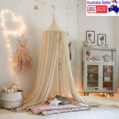 Kids Bed Canopy Round Dome Play Tent Mosquito Netting Curtain Bedding Dome Tent