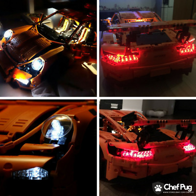 LED Light Kit ONLY For Lego 42056 Technic Porsche 911 GT3 RS Lighting Bricks