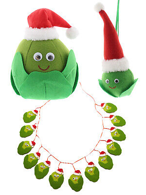 Sid The Sprout Christmas Decoration Tree Bauble Bunting Fun Quirky Gift