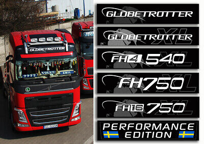 New Volvo Globetrotter Fh4 Sticker For The Front Top Of The Roof Fh
