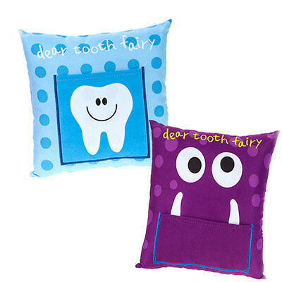 Cute Childrens TOOTH FAIRY PILLOW Cushion Boys Girls Gift with Coin Pouch