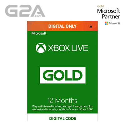 Xbox Live 12 Month Gold Membership Code - Microsoft Xbox One/ 360 Digital Key UK