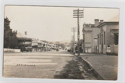 VINTAGE POSTCARD   A VIEW OF BRAIDWOOD  NSW 1900s RPPC