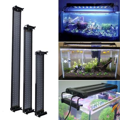 Aquarium Fish Tank Over-Head Lamp LED Light Lighting Blue/ White+Blue Color UK