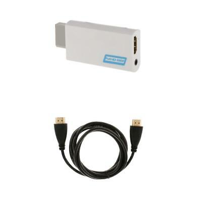 Full HD Wii To HDMI 1080P Upscaling Converter Adapter +1.8 M HDMI Cable