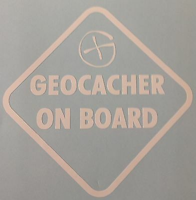 Geocacher On Board Decal Sticker Outdoor Quality Vinyl Any colour  Buy2 Get1Free