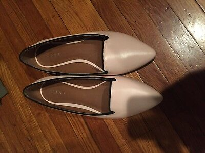 Women's Aldo Shoes Beige Leather Pointed Toe Ballet Flats Size 9 M, EU 40