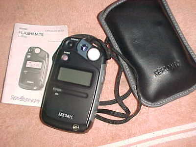 Tested - Sekonic 308B Digital Light Flash Exposure Meter - Carry Case & Papers