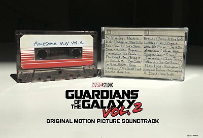 GUARDIANS OF THE GALAXY 2 AWESOME MIX VOL.2 CASSETTE TAPE Released 23/6/2017