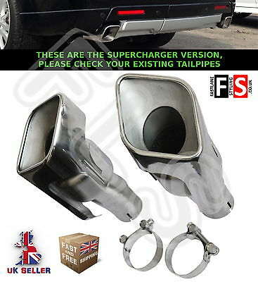 Range Rover Sport Supercharged Autobiography L320 Stainless Steel Tailpipes