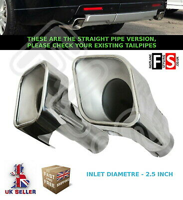 Range Rover Sport Autobiography L320 T304 Stainless Steel Exhaust Tailpipes 3.0T