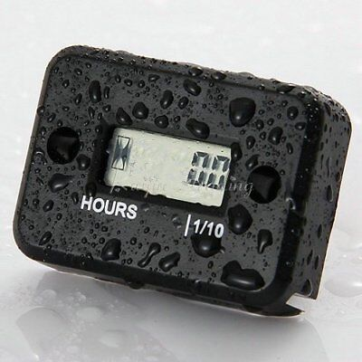 LCD Counter Hour Meter for Dirt Quad Bike ATV Motorcycle Snowmobile Waterproof