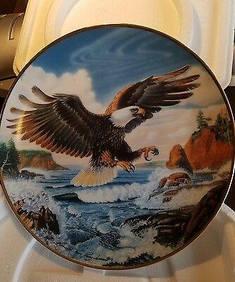 FOREVER FREE  plate by Ronald Van Ruyckevelt Franklin Mint Bald Eagle