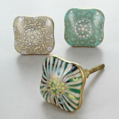 Milano Collection Ceramic Door Knobs Vintage Shabby Chic Cupboard Pull Handles