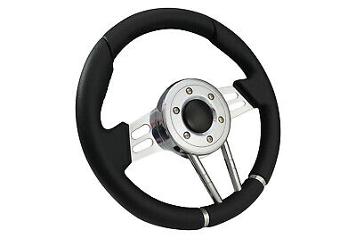 BLACK V2 SPORTS STEERING WHEEL 310mm fit Momo OMP boss kit LAND ROVER
