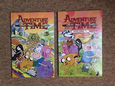 Adventure Time Graphic Novels volume 1 and 2