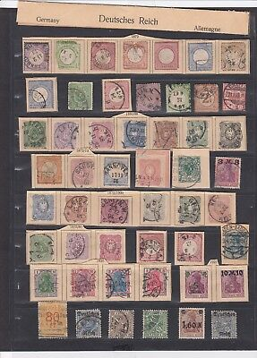 604 Germany Deutsches Reich - Mixed Condition - 1872 - Great Rare Selection