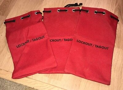 LOTO Lockout Tagout Lock Bags FR Lot Of 3