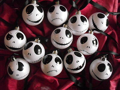 White Nightmare Before Christmas Jack Skellington bauble Christmas Tree Decor