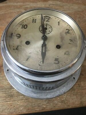 Antique chiming ships clock