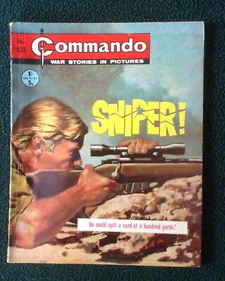 Commando war comic No 523, Sniper, Printed January 1971