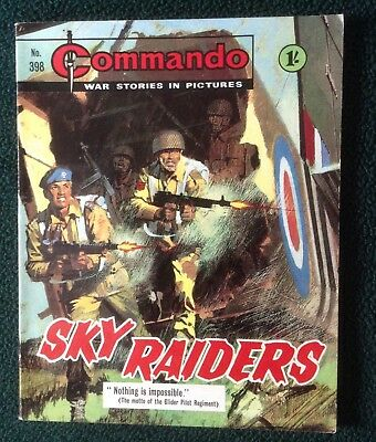 Commando war comic No 398, Sky Raiders, Printed April 1968