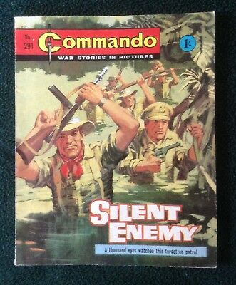 Commando war comic No 291, Silent Enemy, Printed October 1967