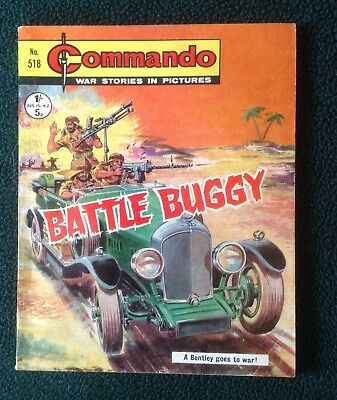 Commando war comic No 518, Battle Buggy, Printed December 1970