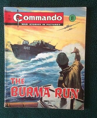 Commando war comic No 282, Burma Run, Printed September 1967