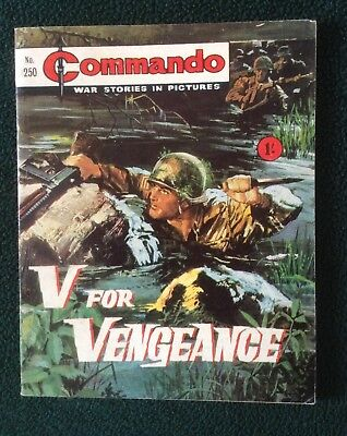 Commando war comic No 250, V For Vengeance, Printed February 1967