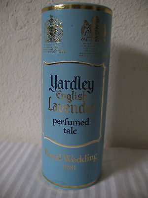 English Lavender Yardley Perfumed Talc Royal Wedding 1981 Princess Diana 150g UK