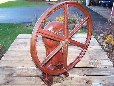 Old Belt Driven Piston Type Water Pump Jack Well Drive Hit Miss Gas Engine Steam