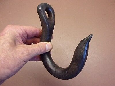"Early Blacksmith Forged Rugged Iron Logging Hook 6 3/4"" Long Neat Collectible!"