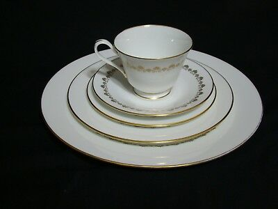 Lenox Oxford Bone China Milburne 5 Piece Setting Cup Saucer Bread Salad Dinner